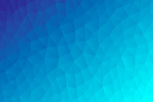 polygonal mosaic with blue gradient - abstract geometric background - low poly - cool attitude stock illustrations