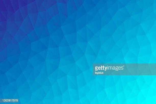 polygonal mosaic with blue gradient - abstract geometric background - low poly - triangle shape stock illustrations
