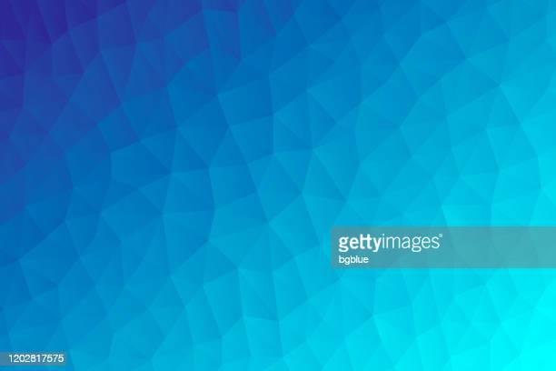 青のグラデーションを持つポリゴンモザイク - 抽象的な幾何学的背景 - low poly - ターコイズカラーの背景点のイラスト素材/クリップアート素材/マンガ素材/アイコン素材