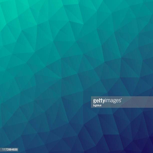 polygonal mosaic with green gradient - abstract geometric background - low poly - low poly modelling stock illustrations