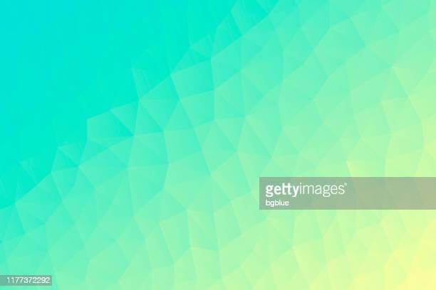 緑のグラデーションを持つポリゴン モザイク - 抽象的な幾何学的背景 - 低ポリ - blue background gradient点のイラスト素材/クリップアート素材/マンガ素材/アイコン素材