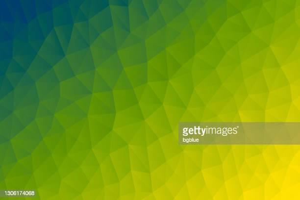 ilustrações de stock, clip art, desenhos animados e ícones de polygonal mosaic with green gradient - abstract geometric background - low poly - arame