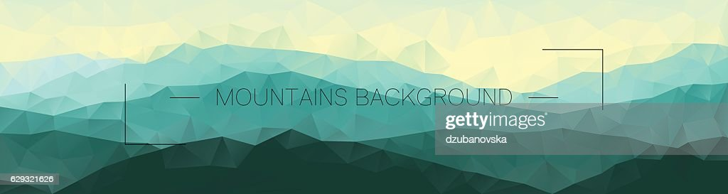 Polygonal mountains background. Geometric abstract landscape.