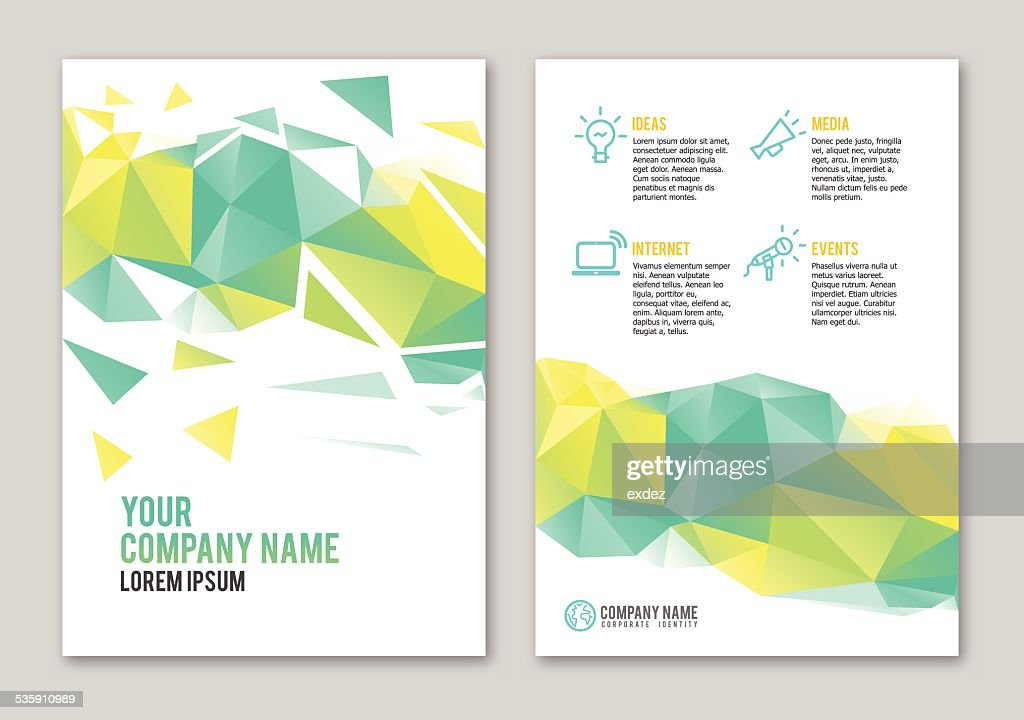 polygonal portfolio design vector art - Portfolio Design Ideas