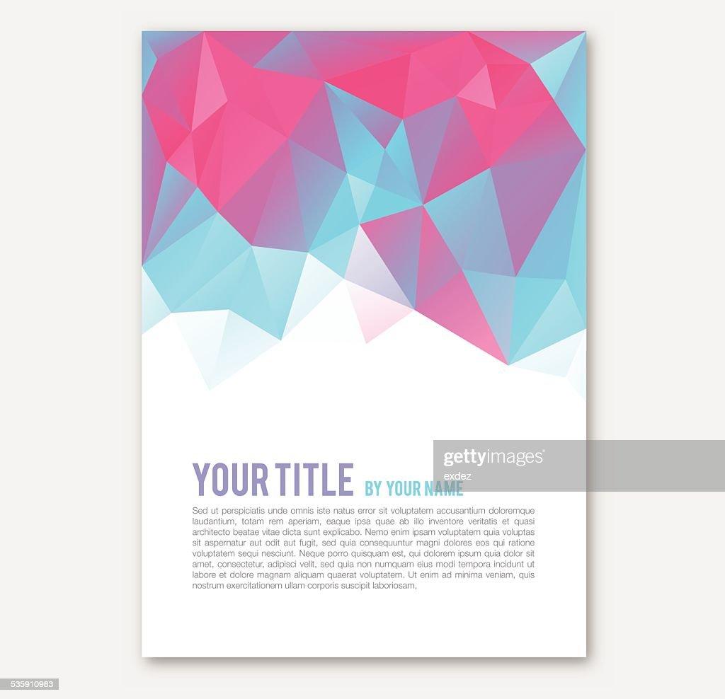 Polygonal Print Design : Vector Art