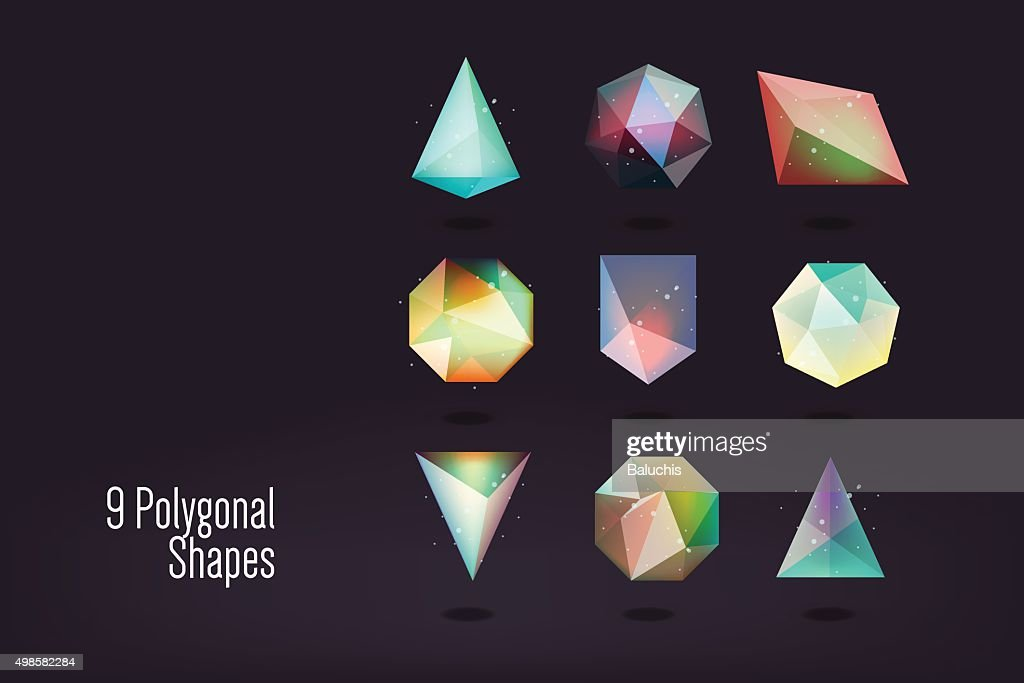 polygonal shape vector illustration
