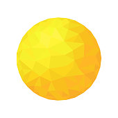 Polygonal  sun.  Gold  sphere particle.