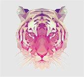 Polygonal Tiger Portrait