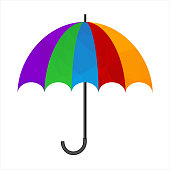 Polygonal umbrella icon.