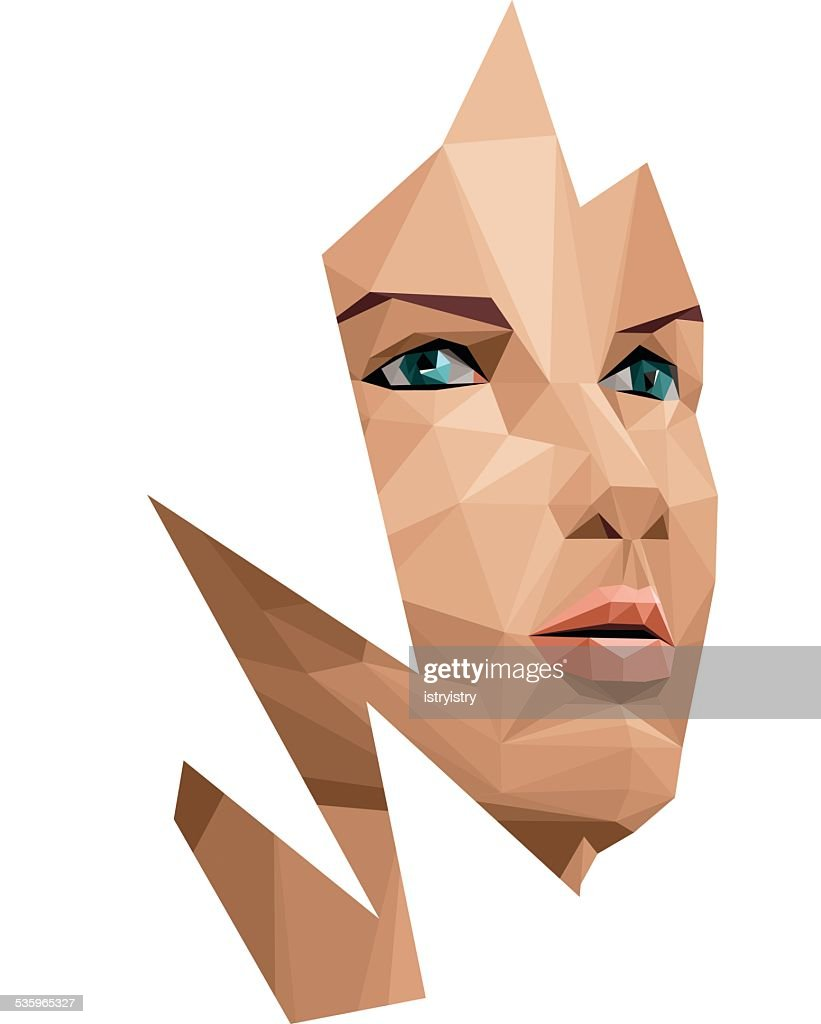 Polygonal woman : Vector Art