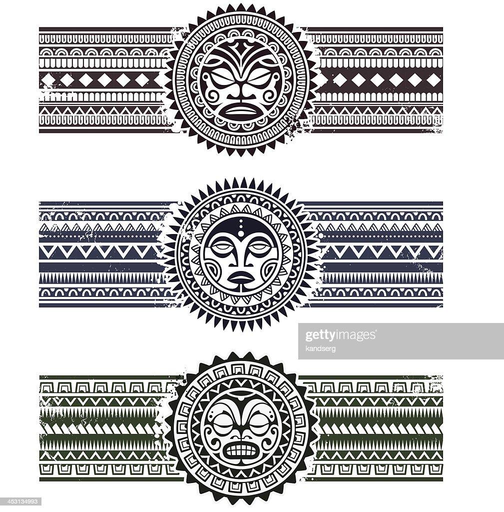 Polynesian pattern bracelets