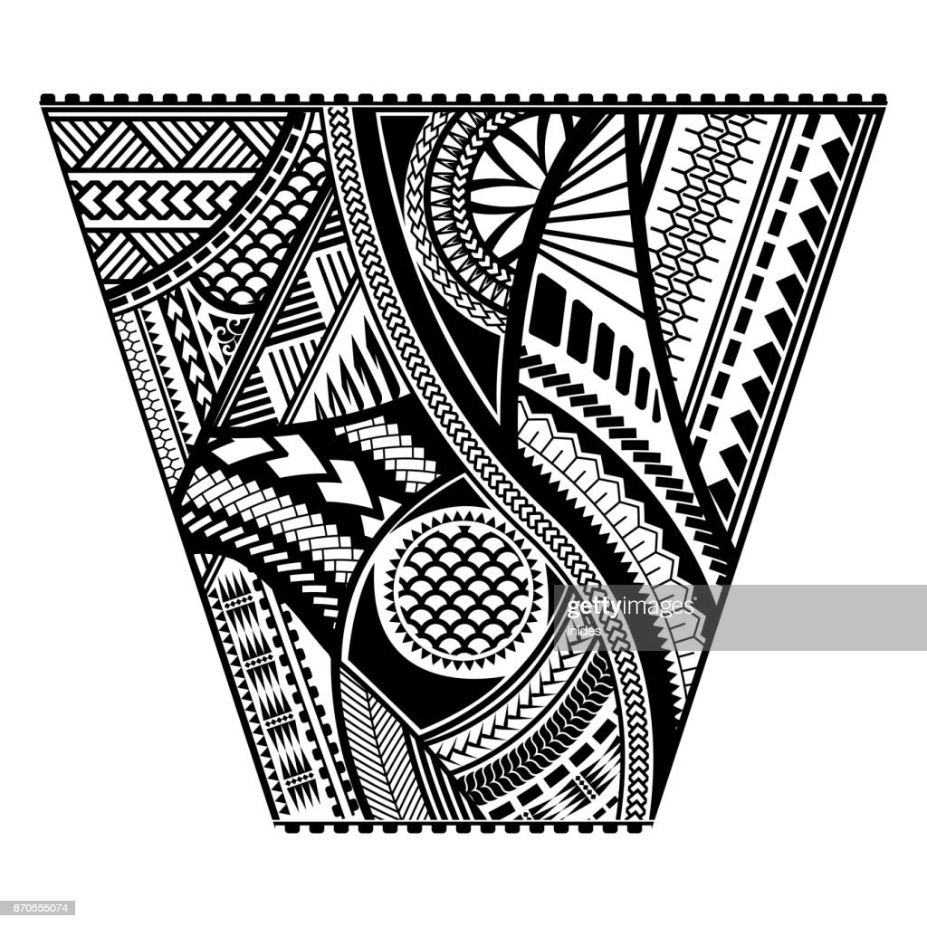 Polynesian tattoo style sleeve vector design