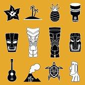 Polynesian Vector Icons