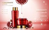 Pomegranate cream ads