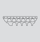 Pont Du Gard line Illustration
