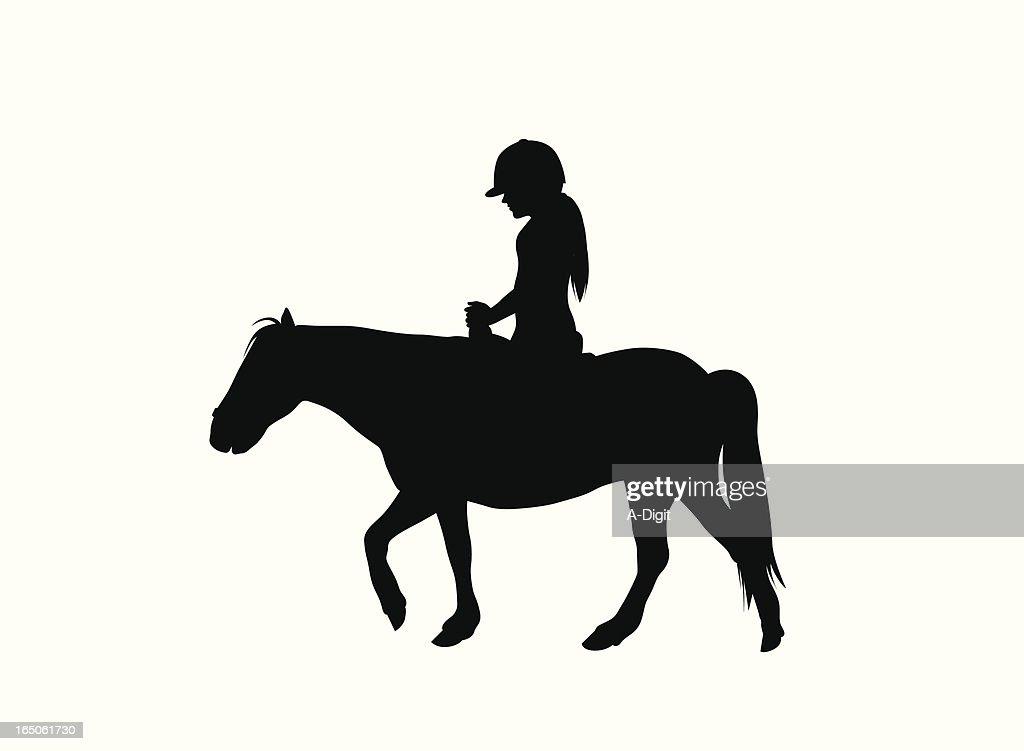 Pony Ride Vector Silhouette