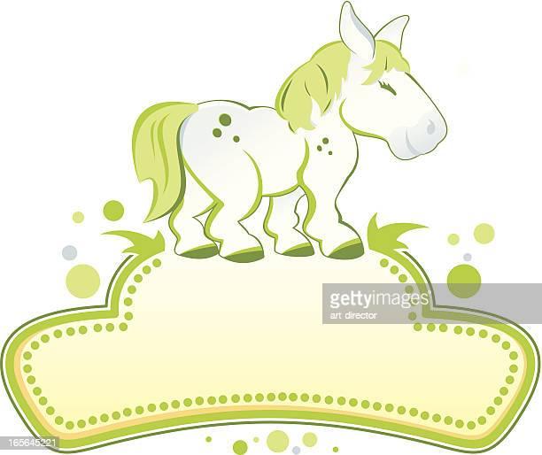 pony - mare stock illustrations, clip art, cartoons, & icons