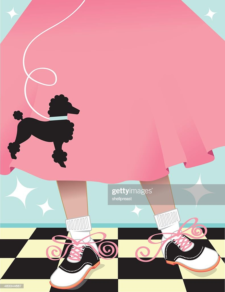 Poodle Skirt Background