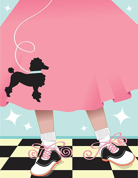 Poodle Skirt Background