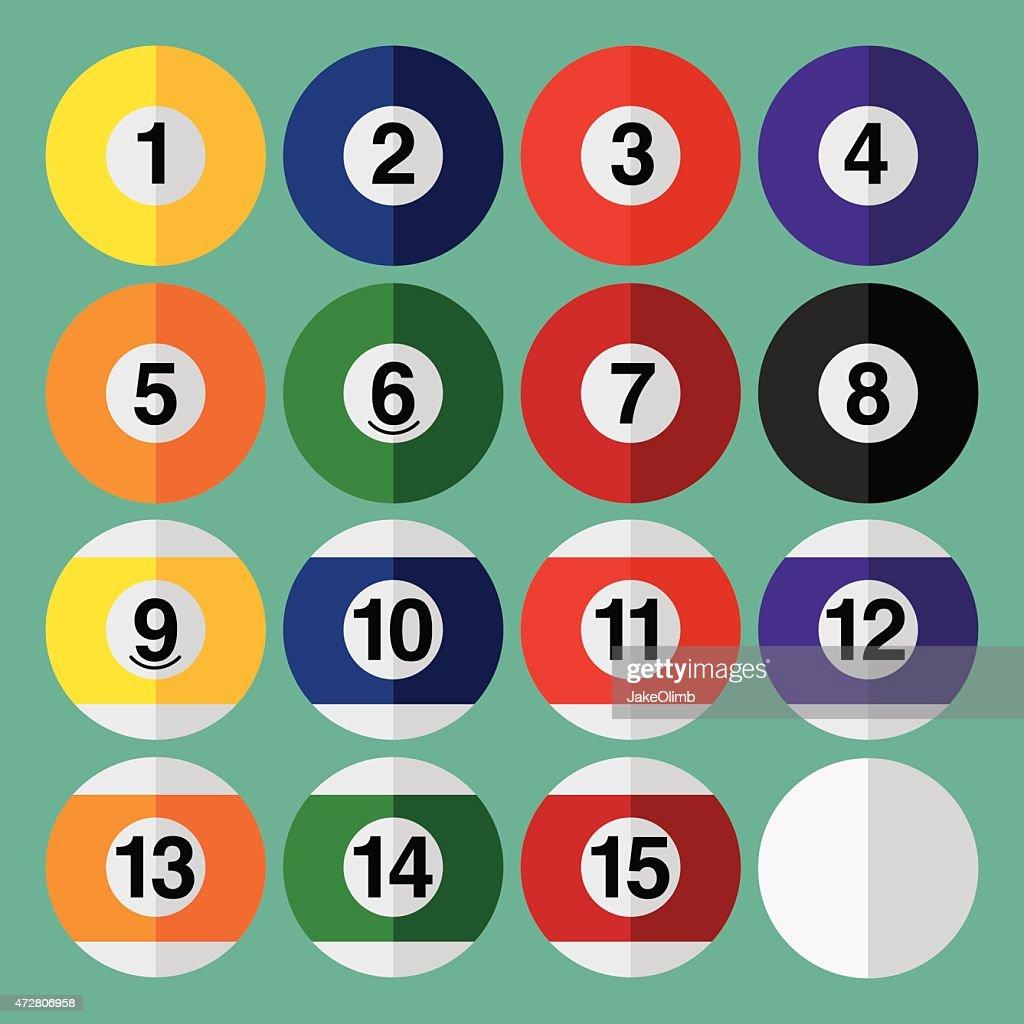 Pool Balls Flat