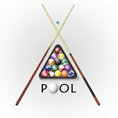 Pool billiards background