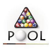 Pool billiards background. Vector illustration.