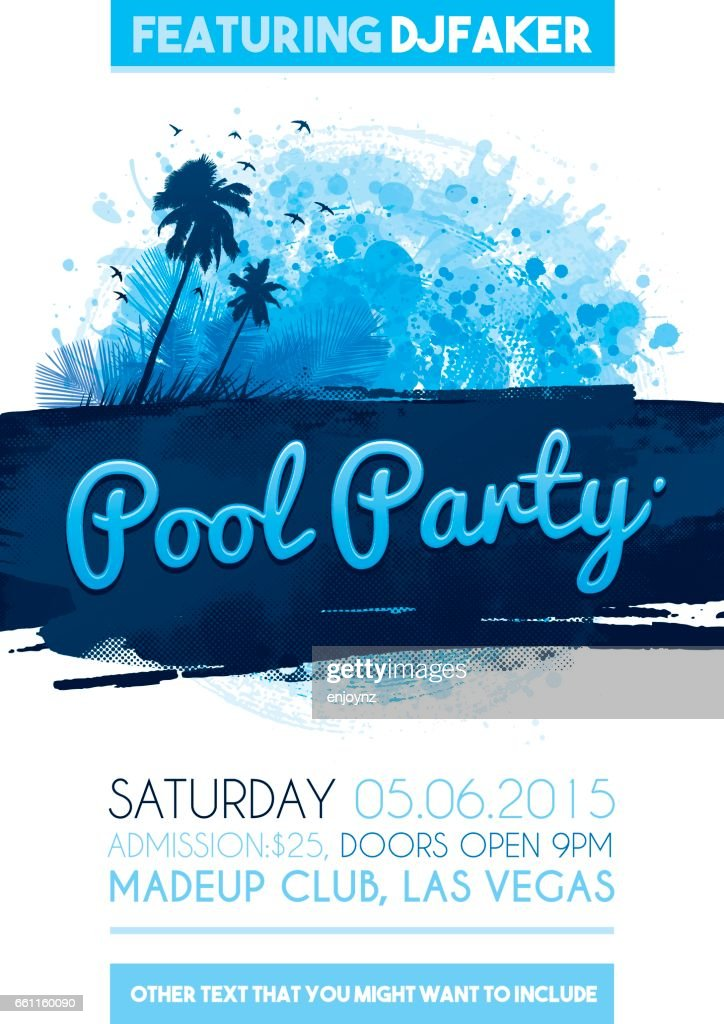 pool party poster invitation