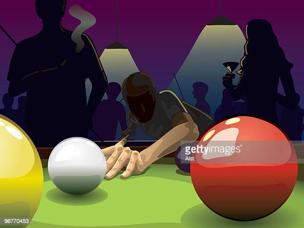 pool players - pool ball stock illustrations, clip art, cartoons, & icons