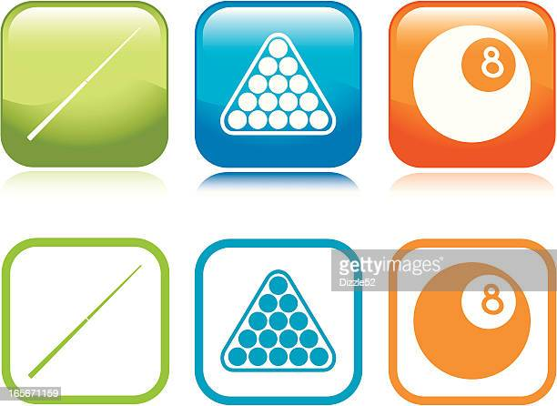 pool table icons - pool ball stock illustrations, clip art, cartoons, & icons