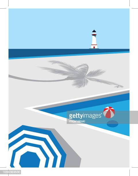 illustrations, cliparts, dessins animés et icônes de piscine avec l'eau bleue - piscine