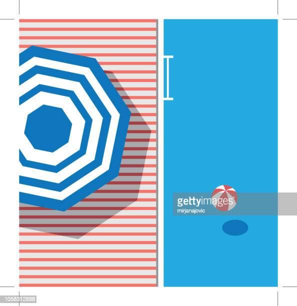 pool mit blauem wasser - schwimmbecken stock-grafiken, -clipart, -cartoons und -symbole