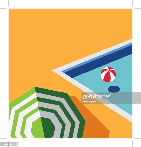 illustrations, cliparts, dessins animés et icônes de piscine avec eau bleue - piscine