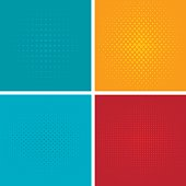 Pop art background vector set.
