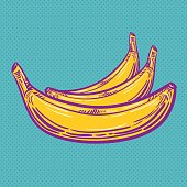 Pop Art Banana - Vector Illustration