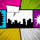Pop art comic book colored backdrop