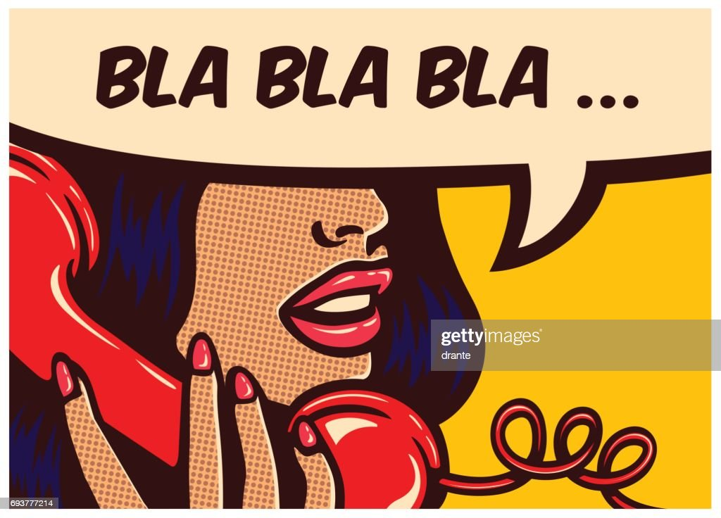 Pop art comics panel with woman talking on vintage phone and speech bubble vector illustration