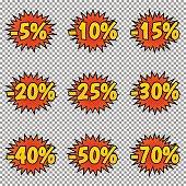 Pop art discount labels