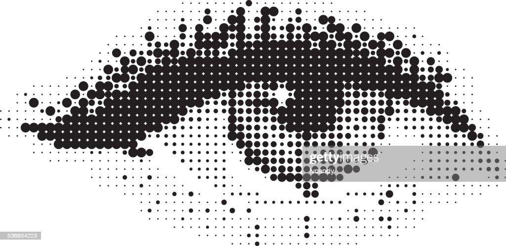 Pop Art de olhos : Ilustração