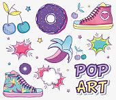 Pop art funny cartoons