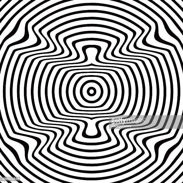 Pop Art Halftone Pattern Bullseye