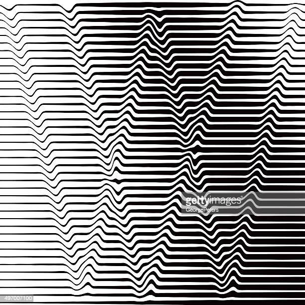 pop art halftone pattern of rippled, wavy lines forming w - letter m stock illustrations, clip art, cartoons, & icons