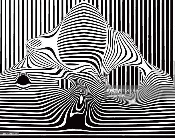 ポップアートハーフトーンパターンストライプのシェイプ - モアレ縞点のイラスト素材/クリップアート素材/マンガ素材/アイコン素材