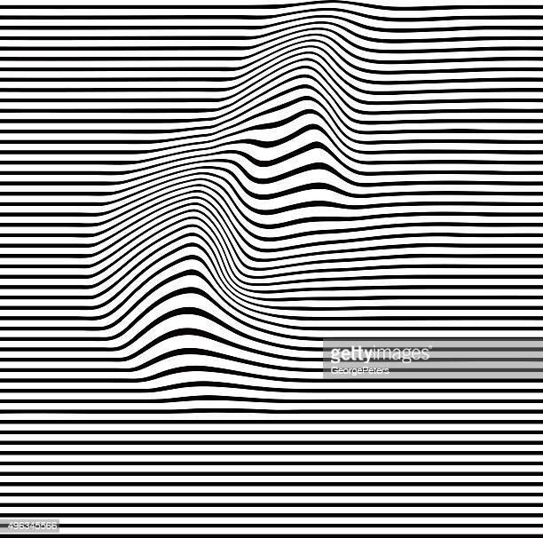 Pop Art-teintes ondulés motif de lignes