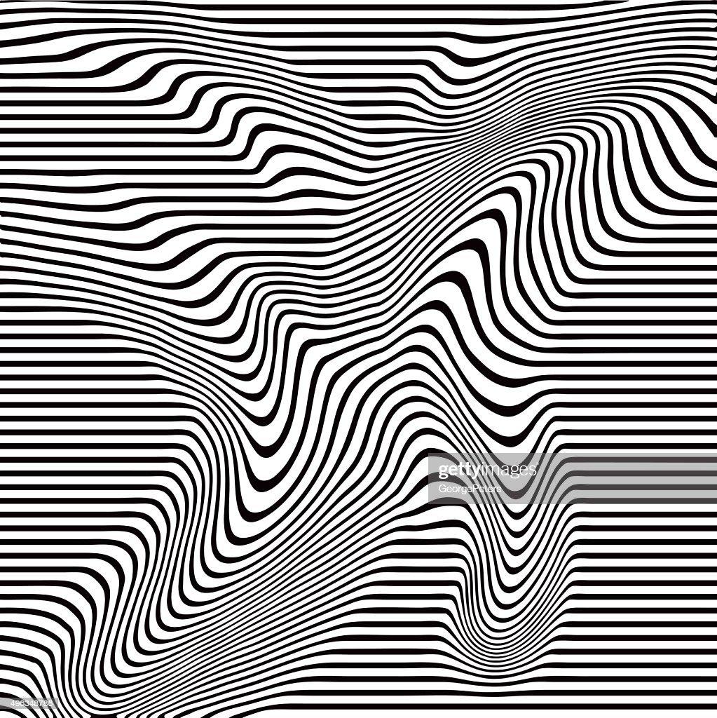 Line Art Vs Halftone : Pop art halftone pattern of wavy lines vector getty