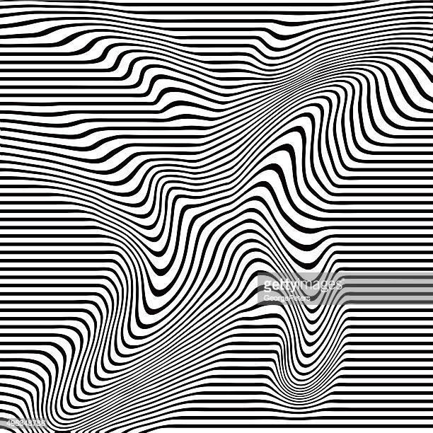 Pop Art Halftone Pattern of Wavy Lines