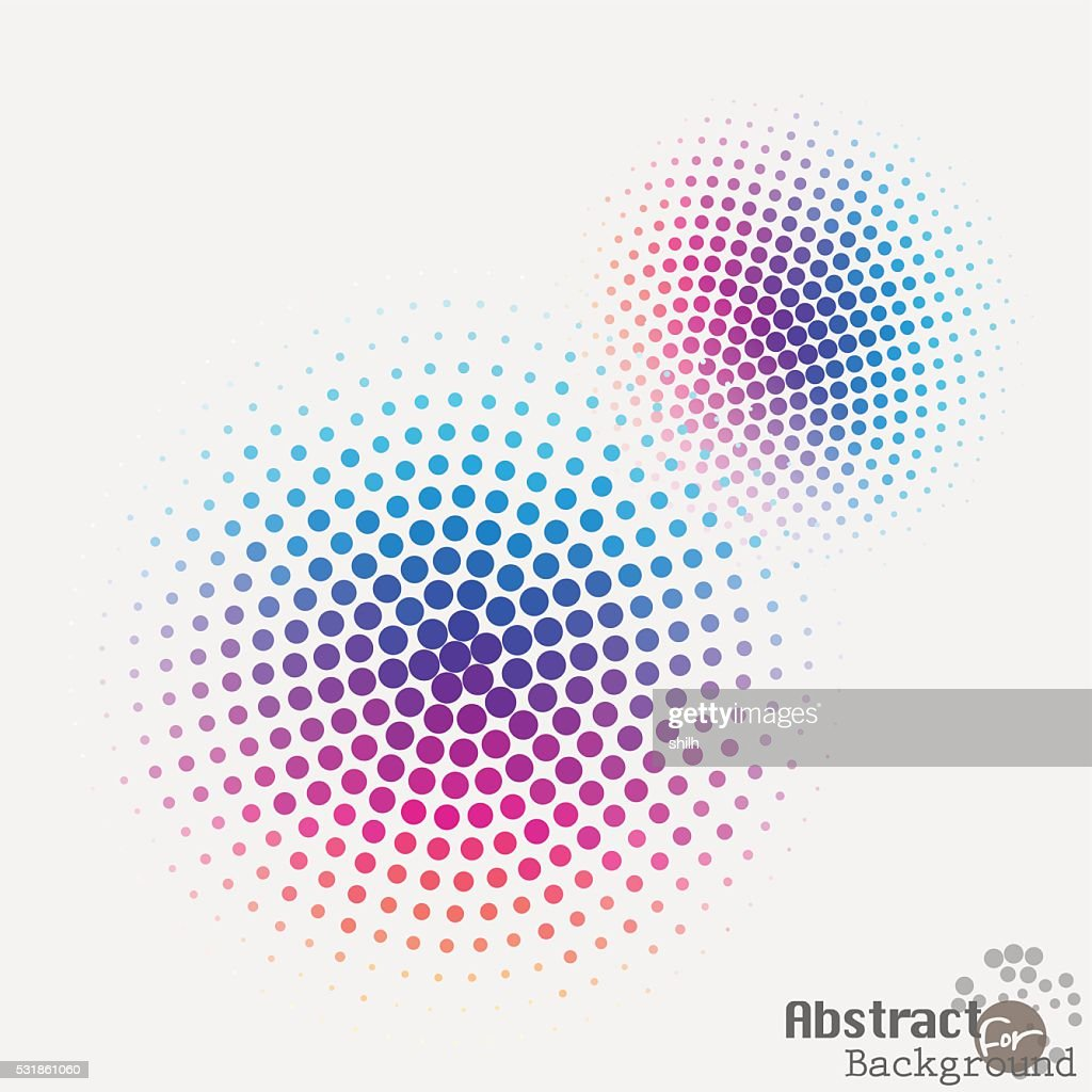 Pop art halftone spotted dotted ecircle. Pop-art vector