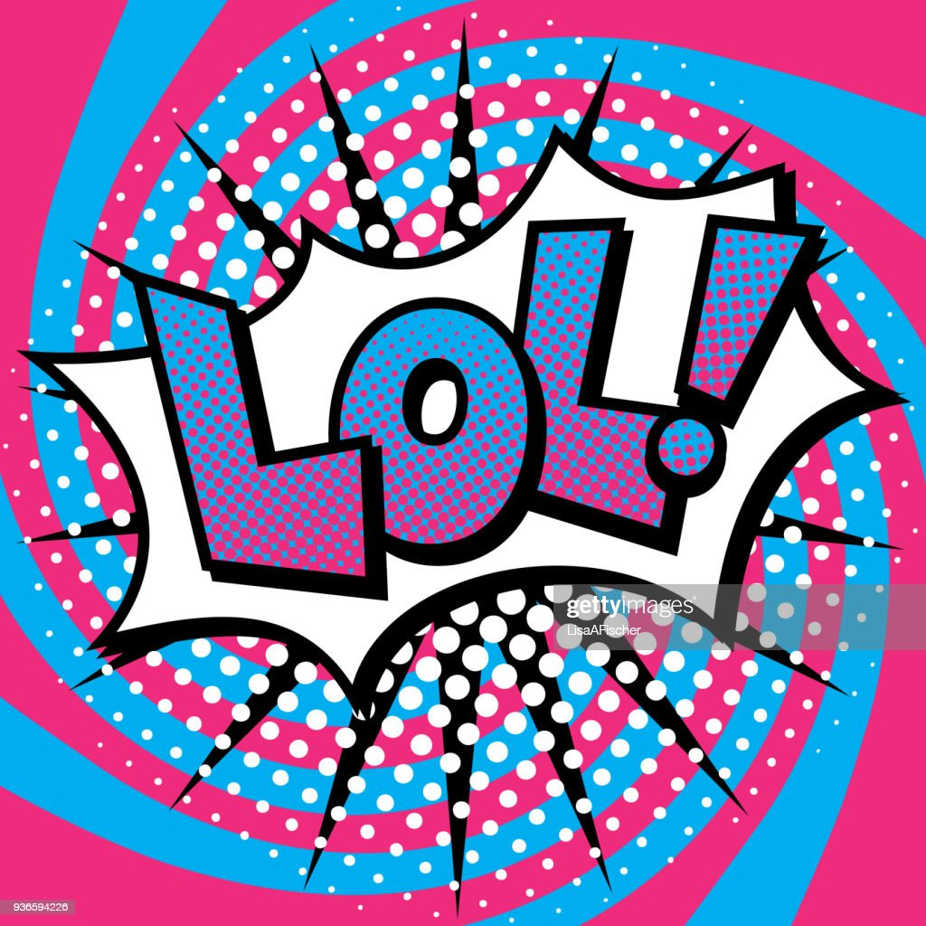 Pop Art LOL! Text Design