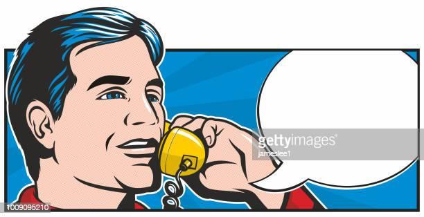 pop art phonecall - pop art stock illustrations