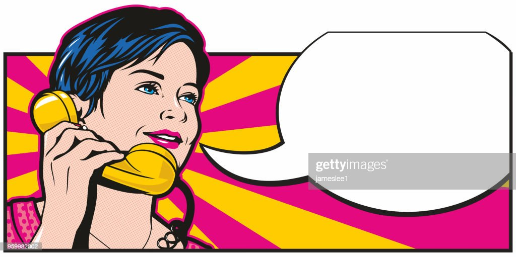 Pop Art Phonecall : stock illustration