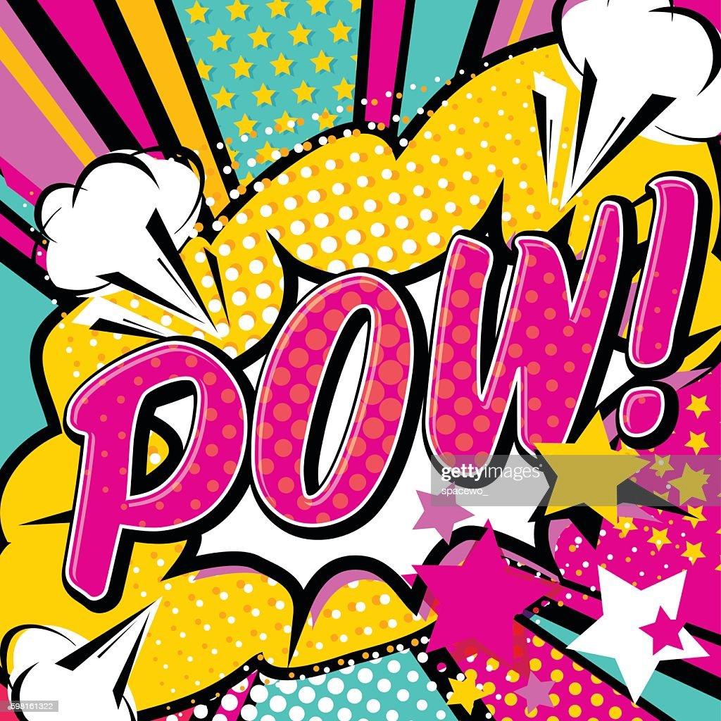 Pop art Pow! quote type poster banner